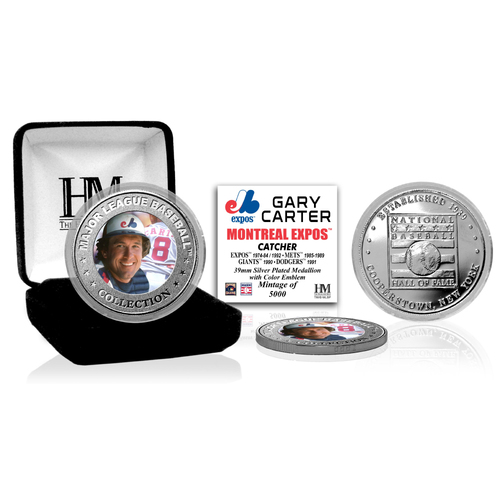 Photo of Gary Carter Baseball Hall of Fame Silver Color Coin