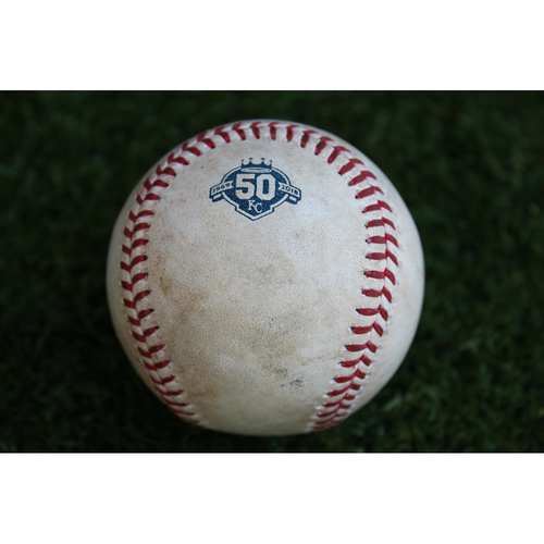 Photo of Game-Used Baseball: Gregorio Petit 111th Career Hit (MIN @ KC - 9/15/18)