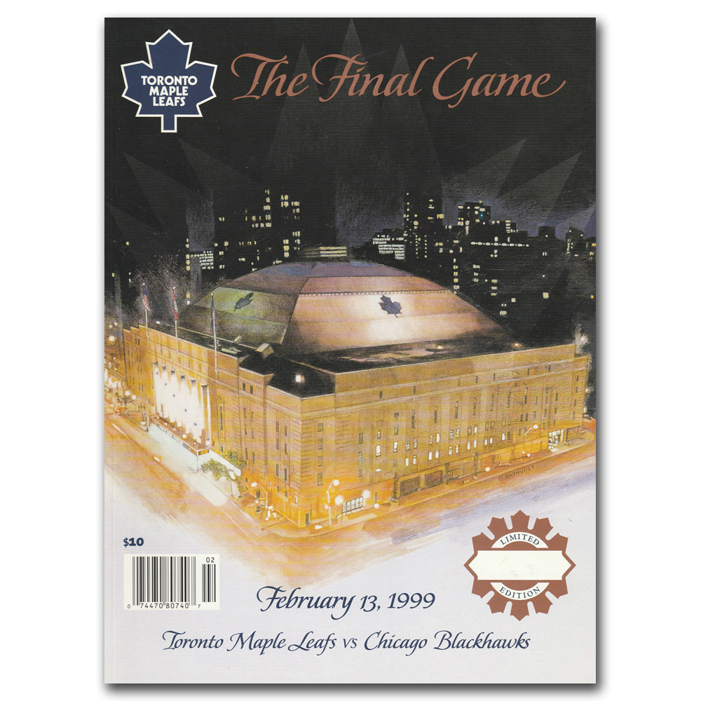 Toronto Maple Leaf Gardens Game Program - The Final Game February 13th, 1999