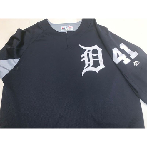 Photo of Team-Issued #41 Home Batting Practice Jersey