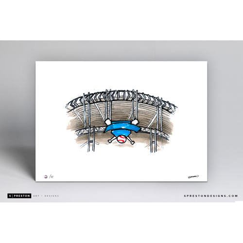 Photo of Progressive Field Sketch - Limited Edition Print 2/42 by S. Preston