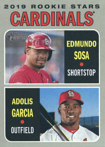 Photo of 2019 Topps Heritage #286 Edmundo Sosa RC/Adolis Garcia RC