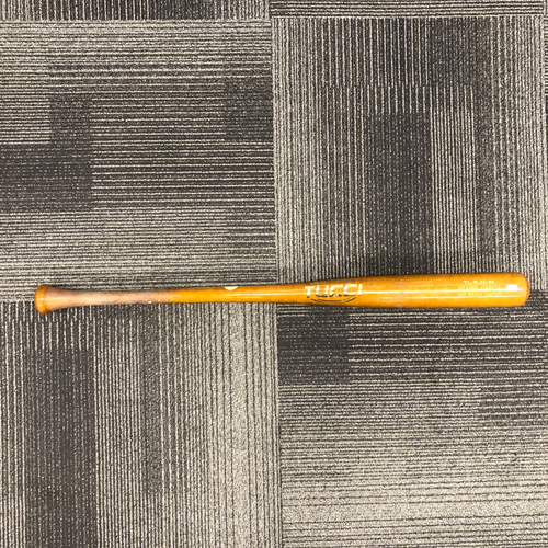 Photo of 2019 Game Used Spring Training Broken Bat used by #16 Aramis Garcia on 3/15 vs. Los Angeles Angels - Popout to 2nd Base