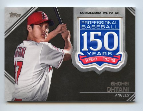 Photo of 2019 Topps 150th Anniversary Manufactured Patches #AMPSO Shohei Ohtani S2
