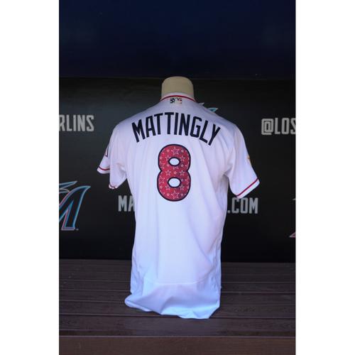 Photo of Game-Used Jersey - Don Mattingly 2018 Stars & Stripes Jersey - Size 46