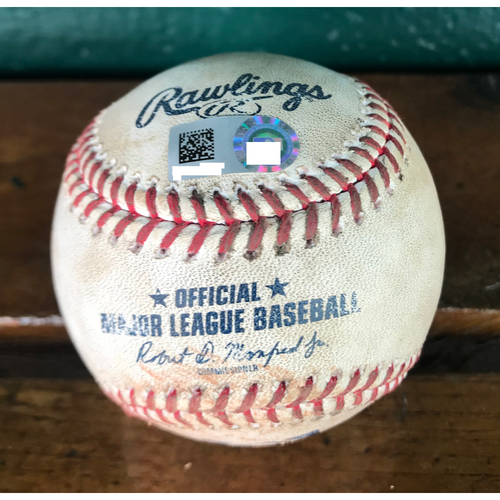 Cardinals Authentics: Game Used Pitched Baseball by Dominic Leone to Buster Posey and Brandon Belt *Posey Single, Belt Foul*