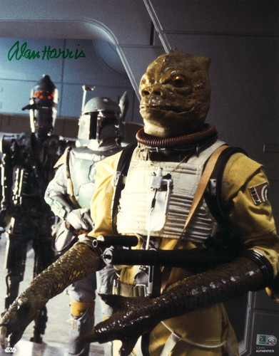 Alan Harris As Bossk 11X14 AUTOGRAPHED IN 'Green' INK PHOTO