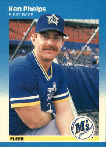 Photo of 1987 Fleer #593 Ken Phelps