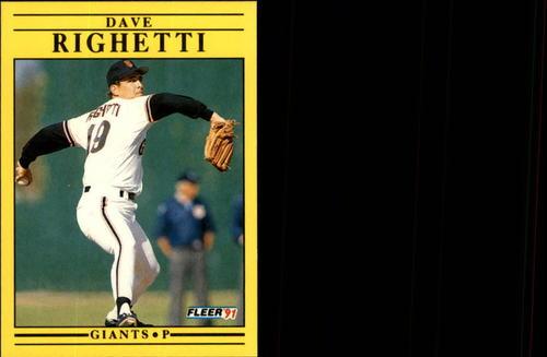 Photo of 1991 Fleer Update #131 Dave Righetti