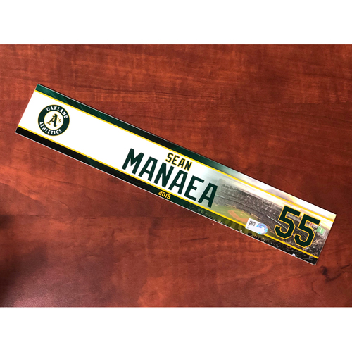 Photo of Team Issued: Sean Manaea 2019 Locker Nameplate