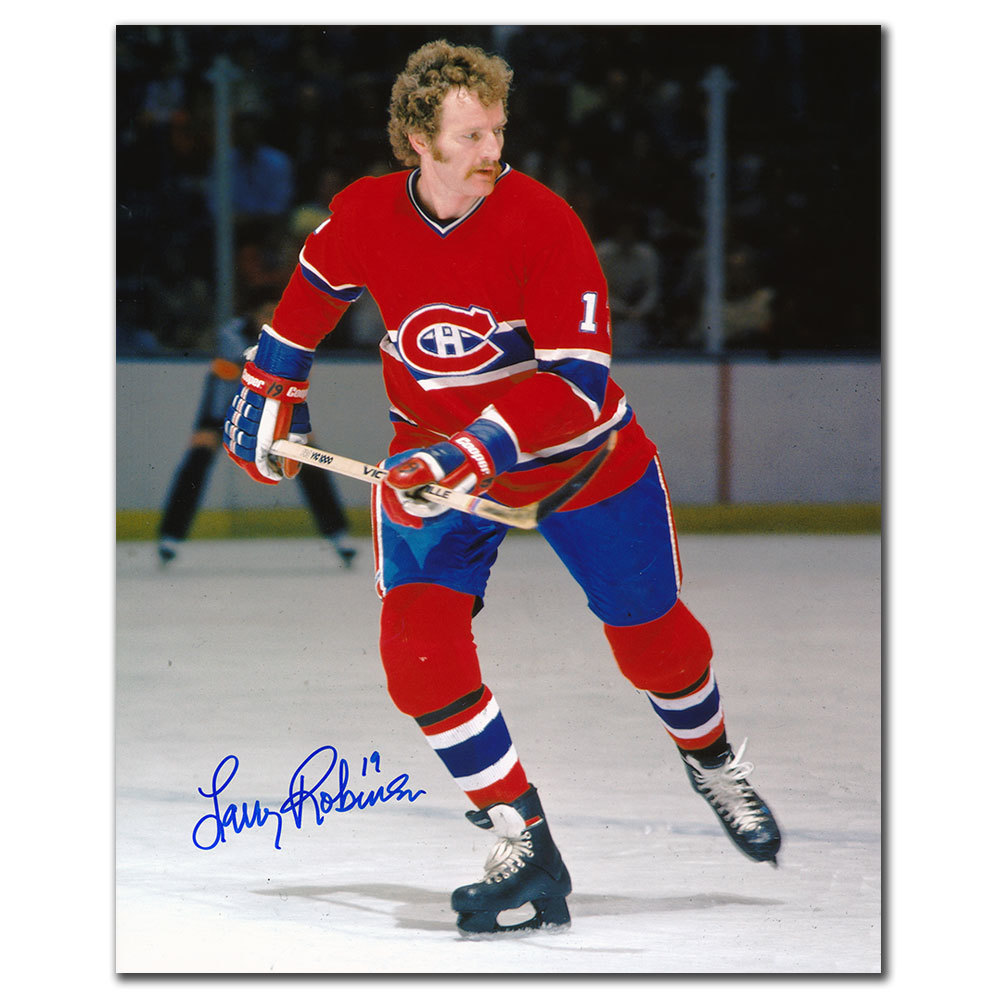 Larry Robinson Montreal Canadiens ACTION Autographed 8x10