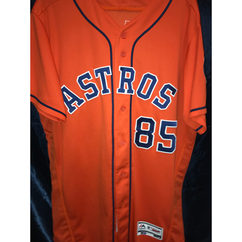 Photo of Javier Bracamonte Game-Used Orange Alternate Jersey (Sz 46) (9/29/19)