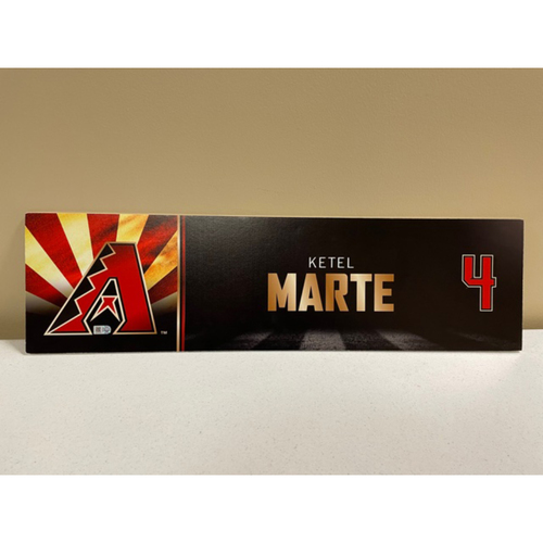 Photo of Ketel Marte 2019 Game-Used Locker Name Plate