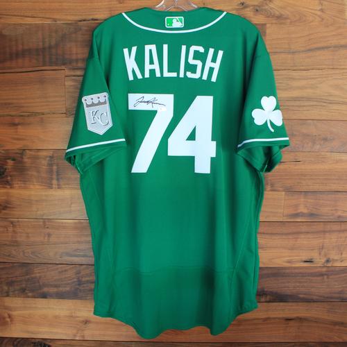 Autographed 2020 St. Patrick's Day Jersey: Jake Kalish #74 - Size 48