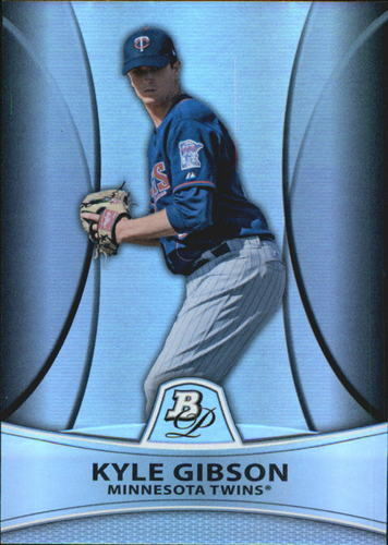 Photo of 2010 Bowman Platinum Prospects Refractors Thick Stock #PP20 Kyle Gibson