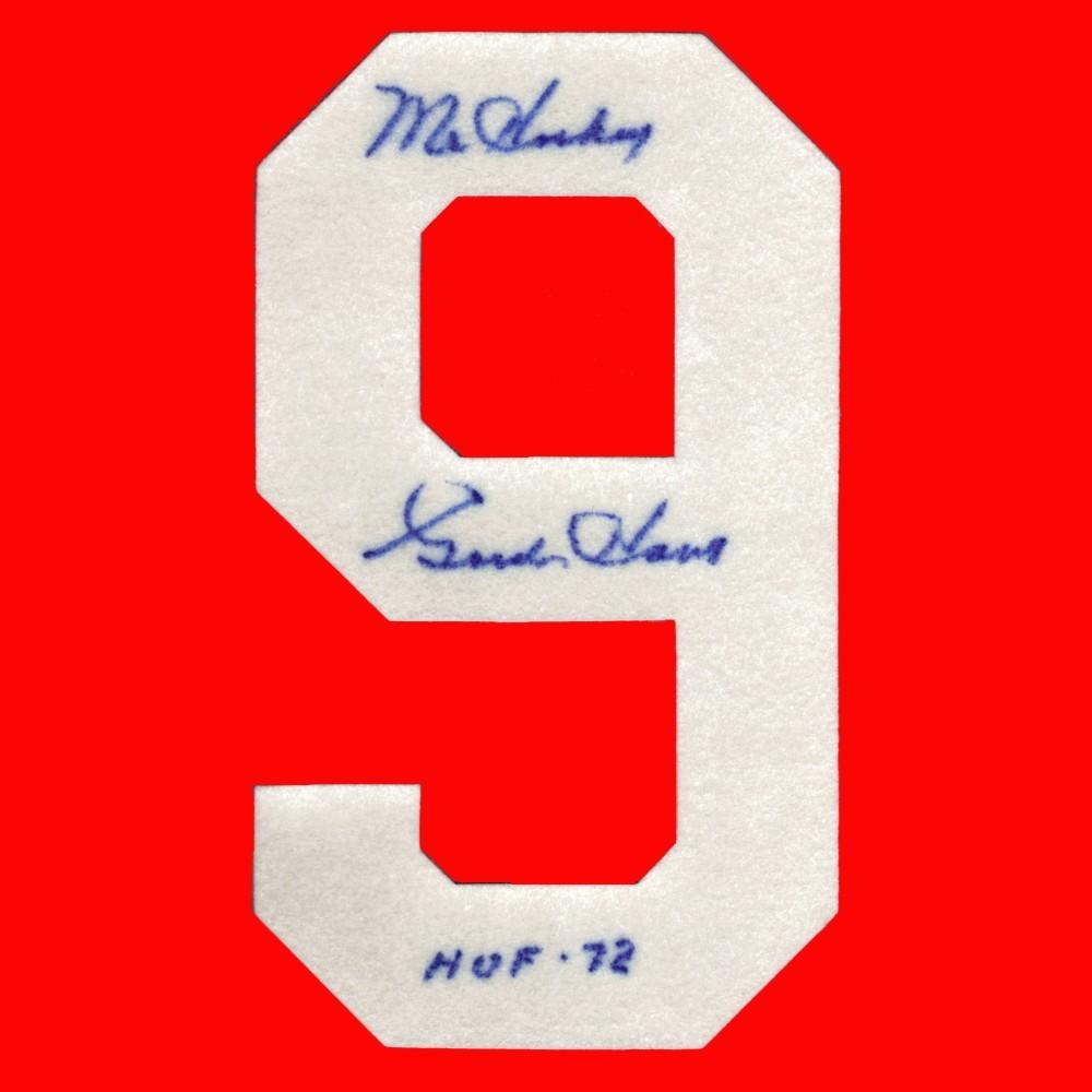 Gordie Howe Autographed Detroit Red Wings Felt Sweater Number