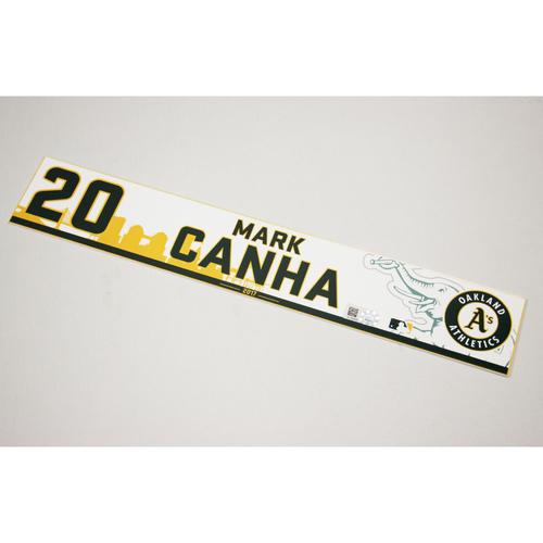 Mark Canha 2017 Home Clubhouse Locker Nameplate