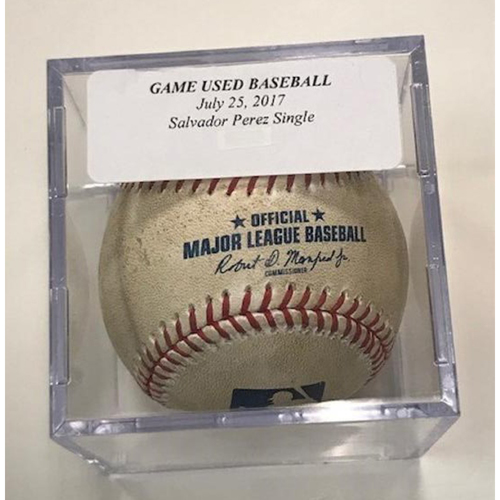 Photo of Game-Used Baseball: Salvador Perez Single