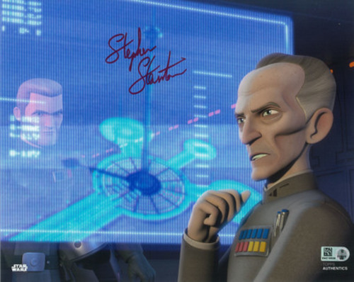 Stephen Stanton as Grand Moff Tarkin 8x10 Autographed in Red Ink Photo