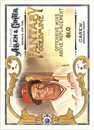 Photo of 2018 Topps Allen and Ginter Fantasy Goldmine #FG46 Rod Carew