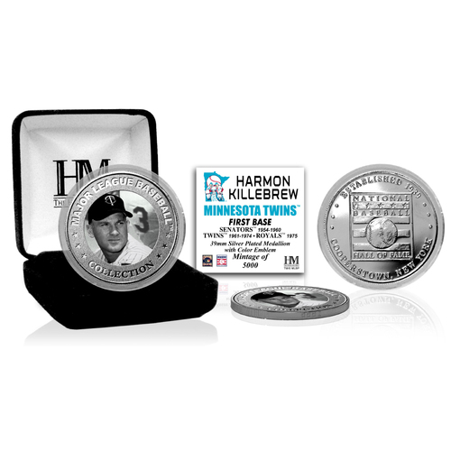 Photo of Harmon Killebrew Baseball Hall of Fame Silver Color Coin