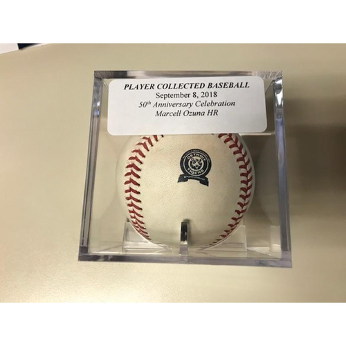 Photo of Player Collected Baseball: Marcell Ozuna Home Run