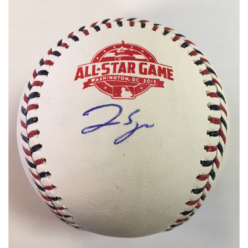 Photo of George Springer Autographed 2018 All Star Game Logo Baseball