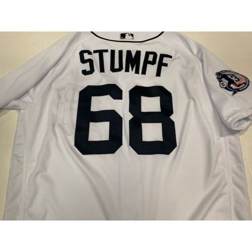 Photo of Game-Used Alan Trammell Number Retirement Jersey: Daniel Stumpf