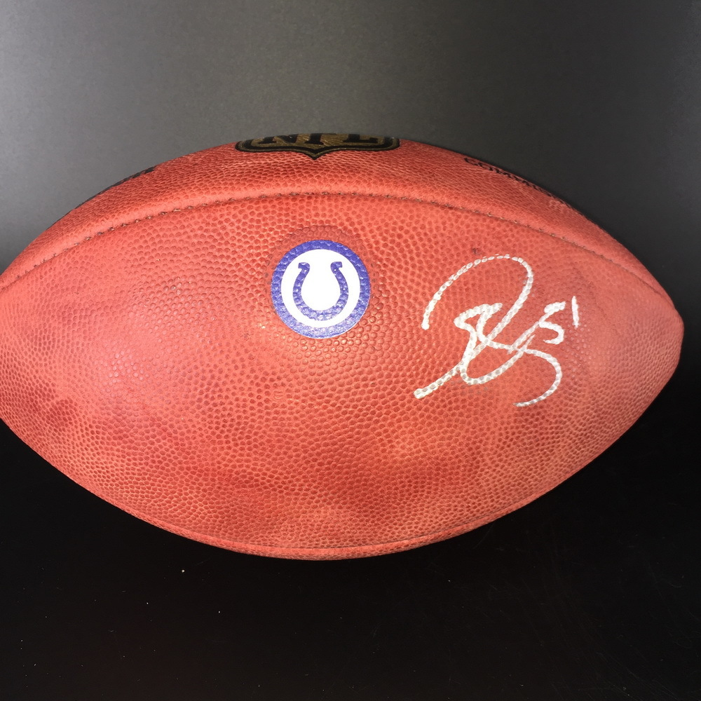 huge selection of 79964 2ffee NFL Auction   Colts - John Simon Signed Authentic Football W ...
