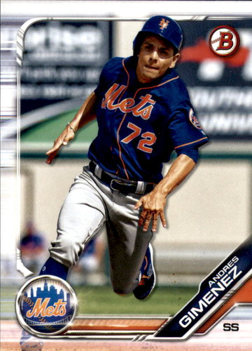 Photo of 2019 Bowman Draft #BD8 Andres Gimenez