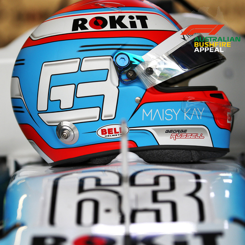 Photo of George Russell 2019 Signed Replica Helmet