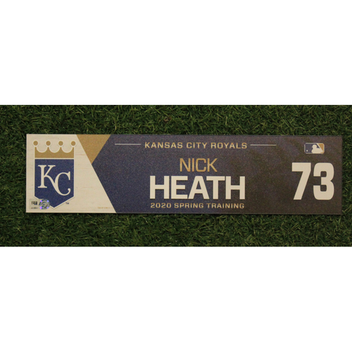 Photo of Game-Used Spring Training Locker Tag: Nick Heath #73