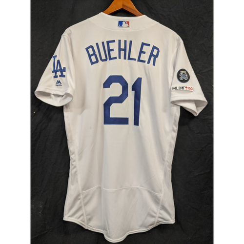 Photo of Walker Buehler Team-Issued 2019 Home Jersey