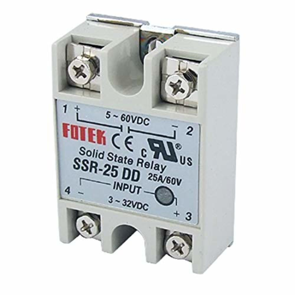 Photo of Sunkee Solid State Relay SSR-25 DD DC-DC 25A 3-32VDC/5-60V DC SSR-25DD