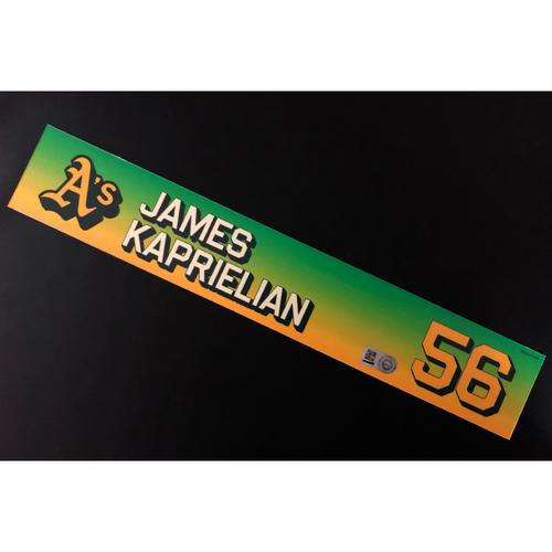 Photo of Team Issued 2020 Season Locker Nameplate - James Kaprielian