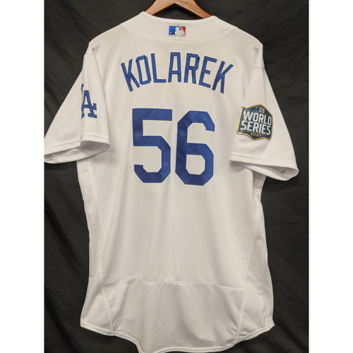Photo of Adam Kolarek 2020 Game-Used Home World Series Jersey - Games 1 & 6