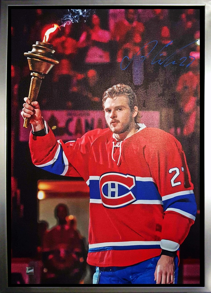 Alex Galchenyuk - Signed & Framed 20x29 Canvas - Montreal Canadiens Holding Torch