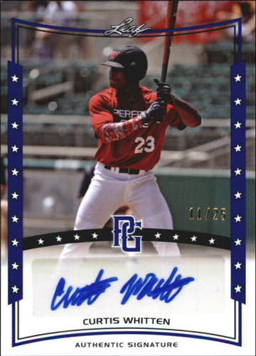 Photo of 2014 Leaf Perfect Game Showcase Autographs Blue #ACW1 Curtis Whitten/25