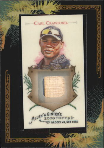 Photo of 2008 Topps Allen and Ginter Relics #CC2 Carl Crawford Bat
