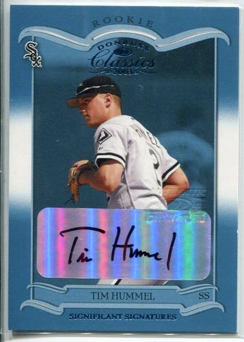 Photo of 2003 Donruss Classics Significant Signatures #152 Tim Hummel ROO/500