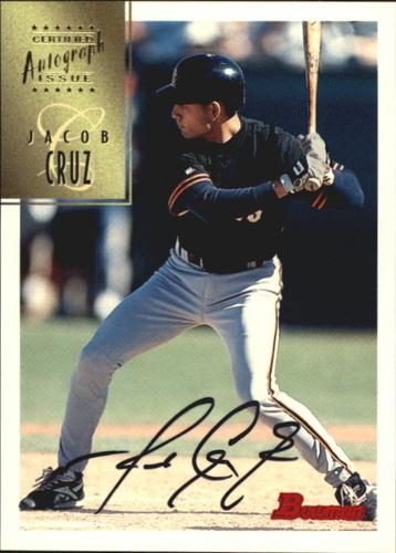 Photo of 1997 Bowman Certified Black Ink Autographs #CA17 Jacob Cruz