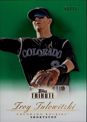 Photo of 2012 Topps Tribute Green #82 Troy Tulowitzki