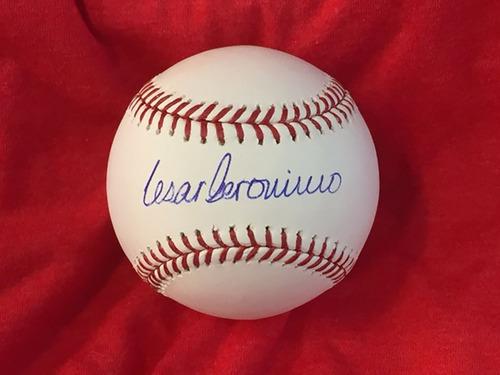 Cesar Geronimo Autographed Baseball