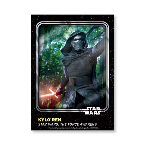 Kylo Ren 2016 Star Wars Card Trader Base Poster - # to 99