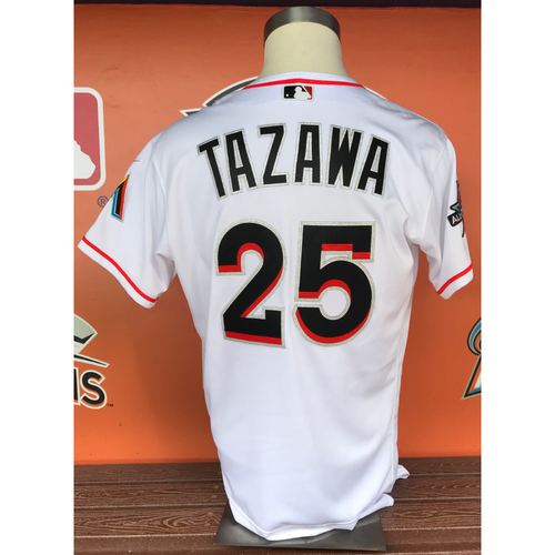 Photo of Junichi Tazawa 2017 Home Opener Game-Used Jersey - Size 46