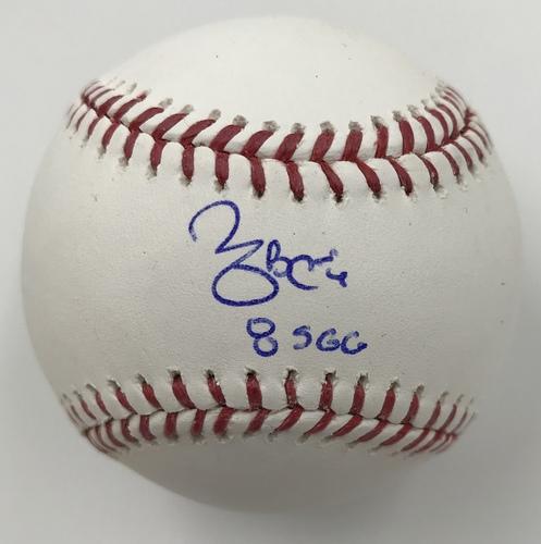 "Photo of Yadier Molina ""8 S G.G."" Autographed Baseball"