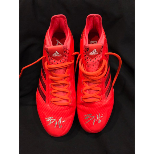 "Photo of Billy Hamilton - Autographed ""Players Weekend"" Cleats"