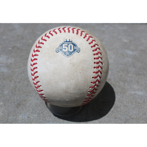 Photo of Game-Used Baseball: Yolmer Sanchez Career 61st Double and 128th, 129th and 130th Career RBIs (CWS at KC - 4/28/18 - Game 1)