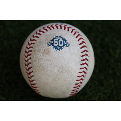 Photo of Game-Used Baseball: Marcell Ozuna 804th Career Hit (STL @ KC - 8/12/18)