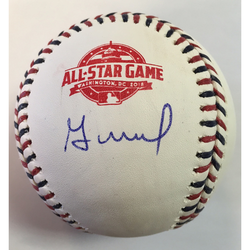 Photo of Jose Altuve Autographed 2018 All Star Game Logo Baseball